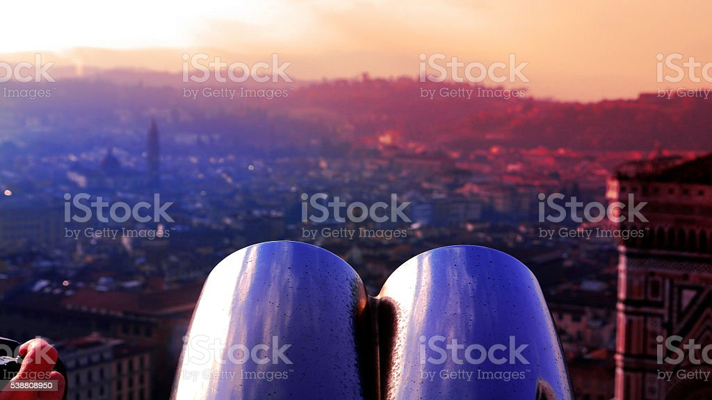 Looking through Florence. stock photo