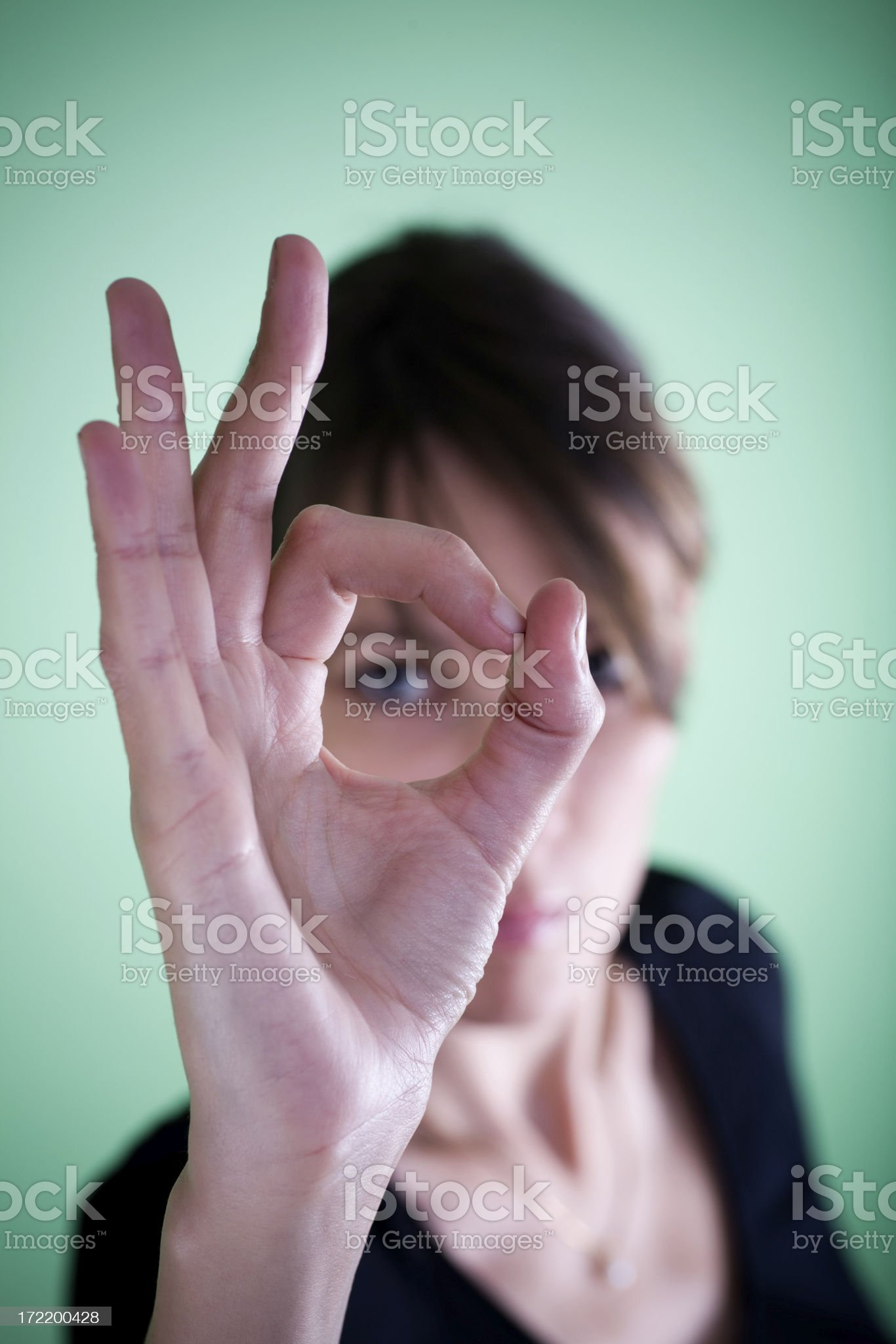 Looking through hand royalty-free stock photo