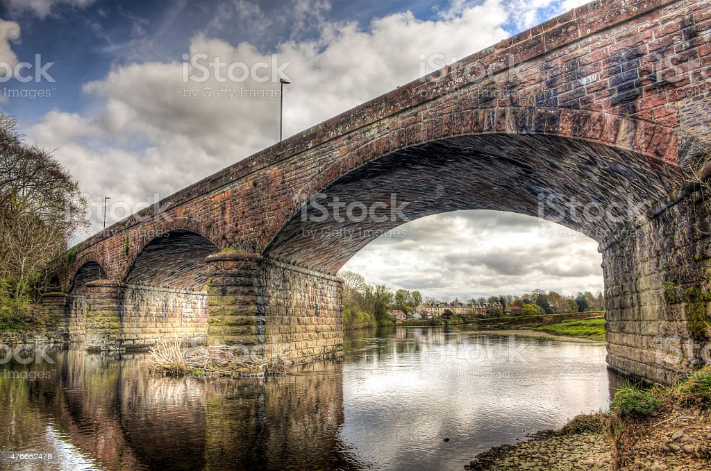 Looking Through Nith Viaduct HDR stock photo