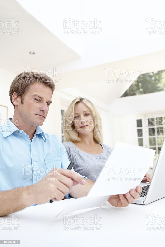 Looking through the documents royalty-free stock photo