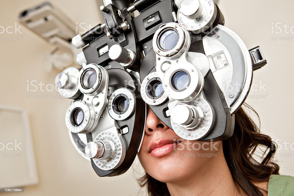 looking through the eye machine royalty-free stock photo