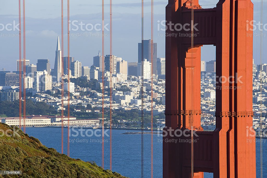 Looking through the Golden Gate royalty-free stock photo