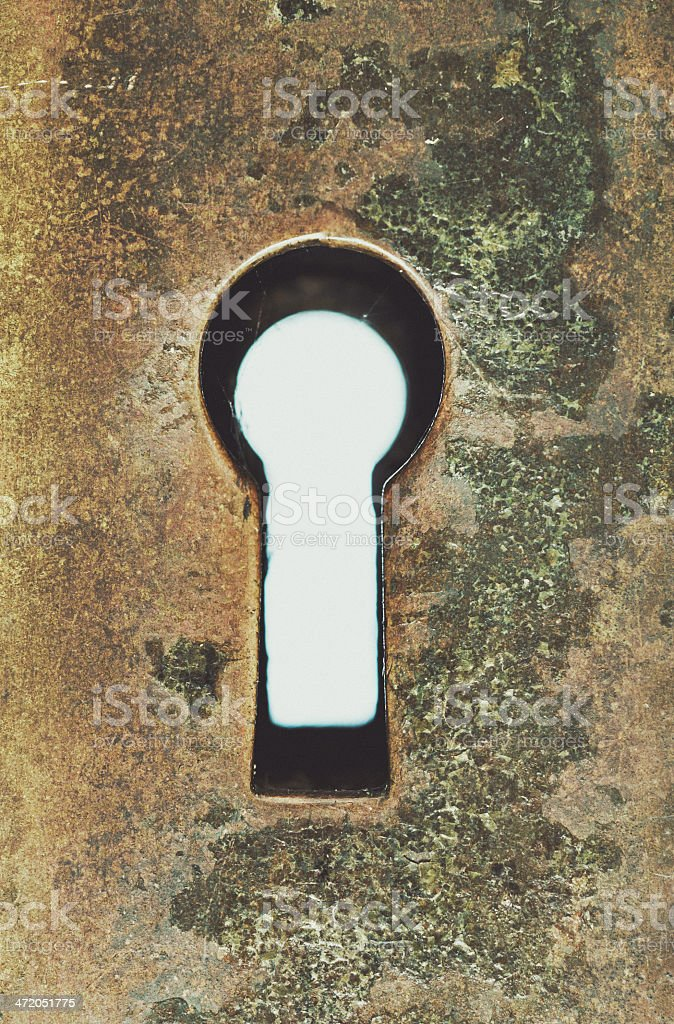 Looking through the Keyhole stock photo