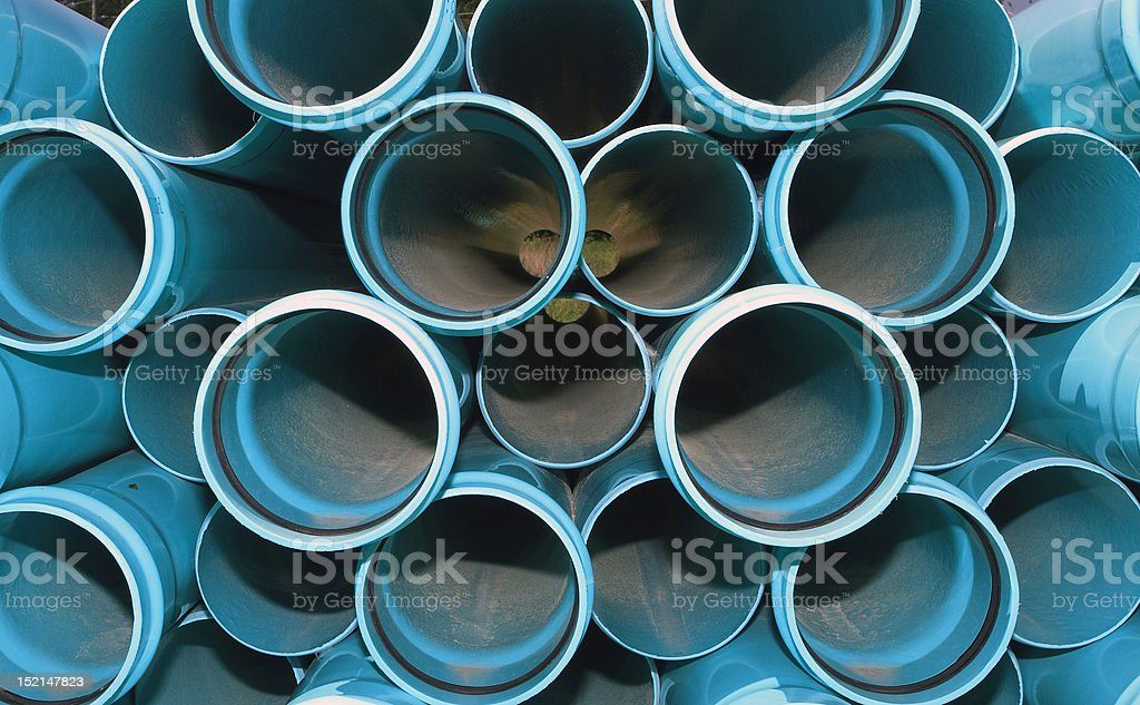 Looking Through The Pipes royalty-free stock photo
