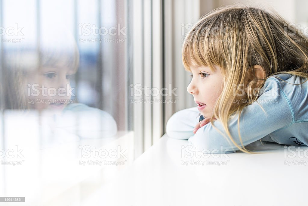 Looking through the window royalty-free stock photo