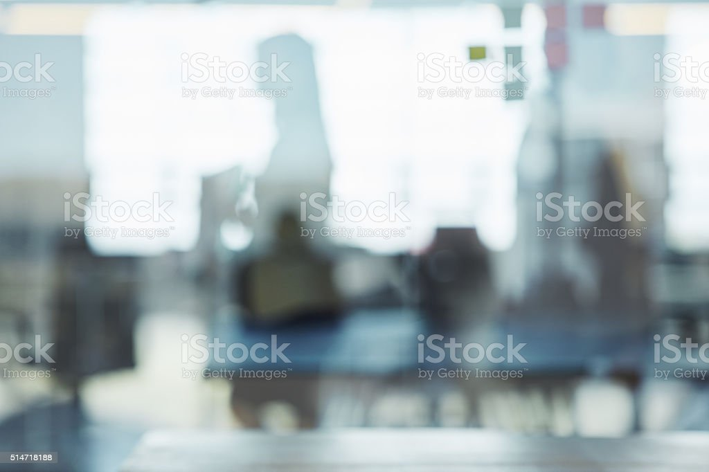 Looking through the window to success stock photo