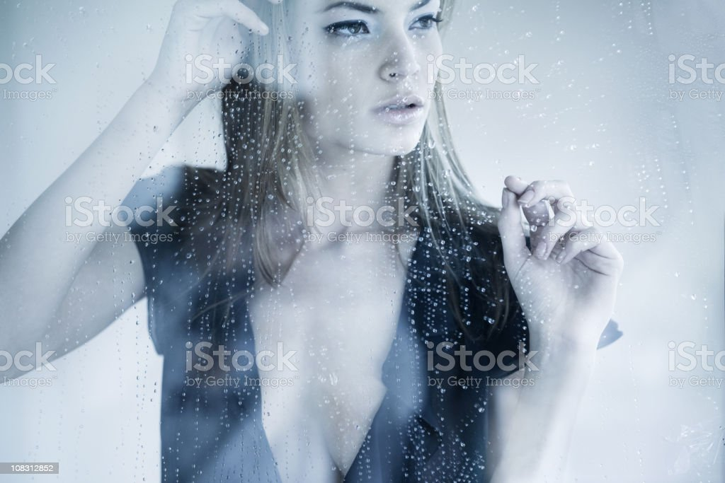 Looking Through Window royalty-free stock photo