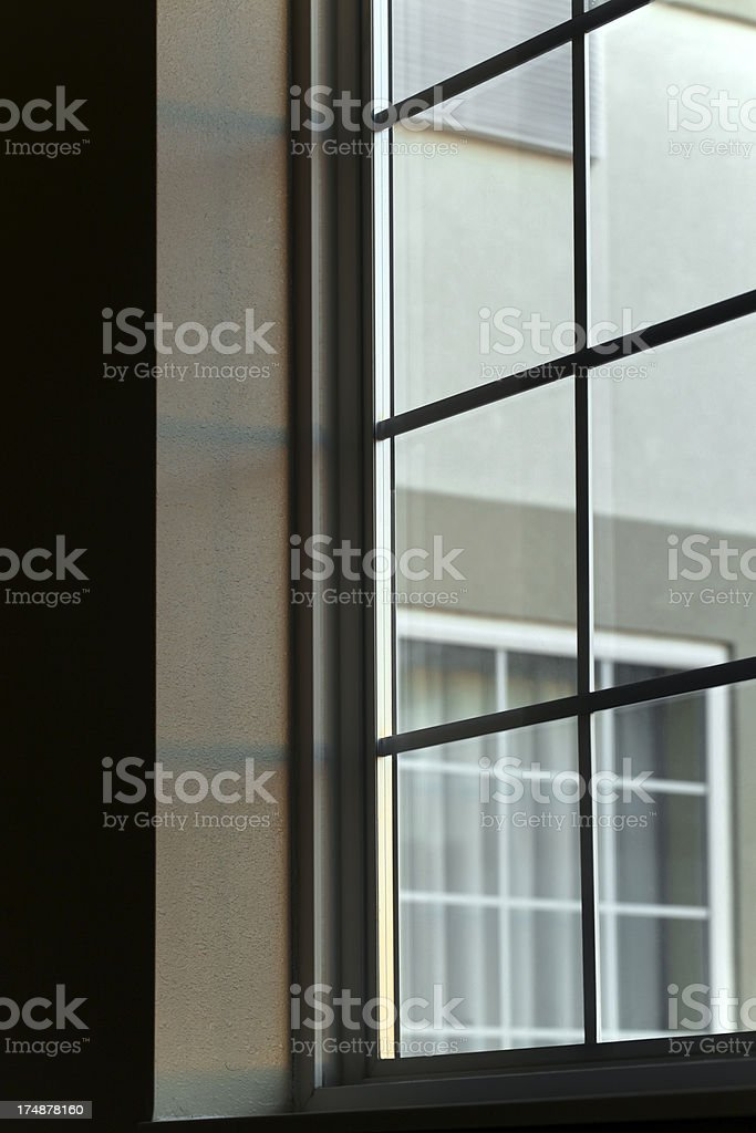 Looking thru a window.  Vertical.  Copy space. royalty-free stock photo
