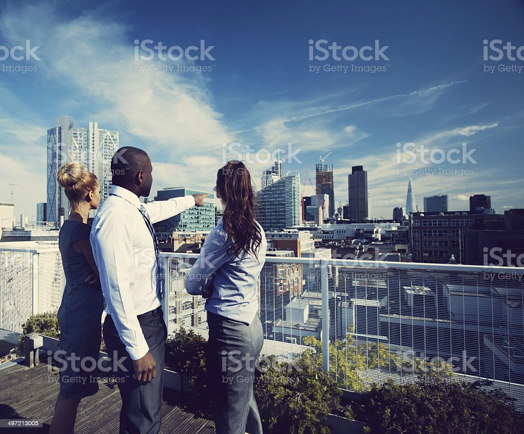 Looking to the future stock photo