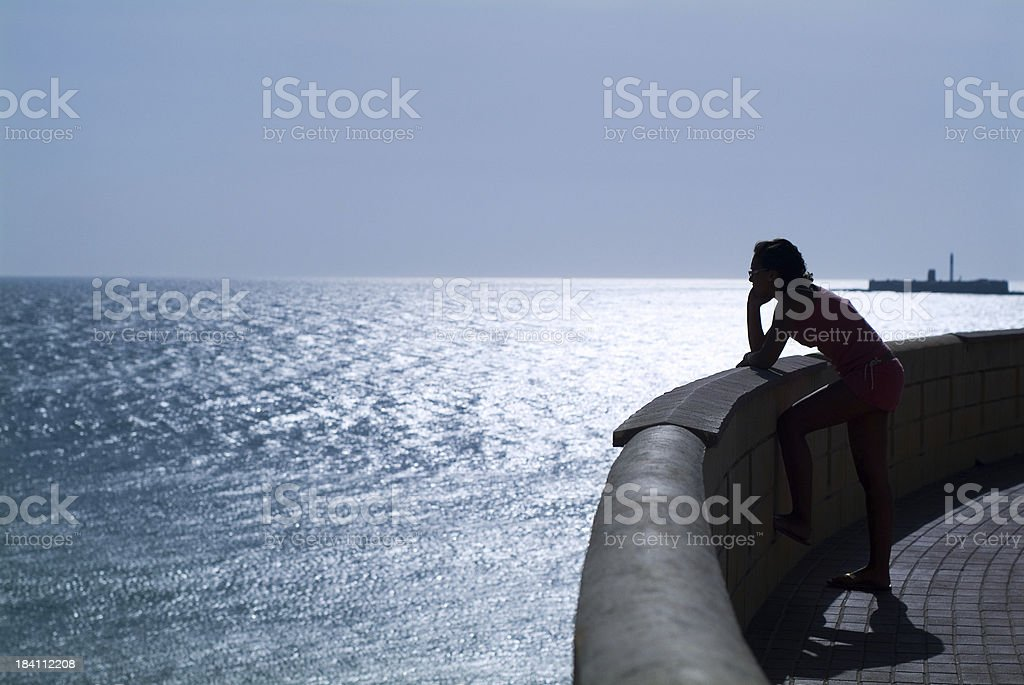 looking to the ocean royalty-free stock photo
