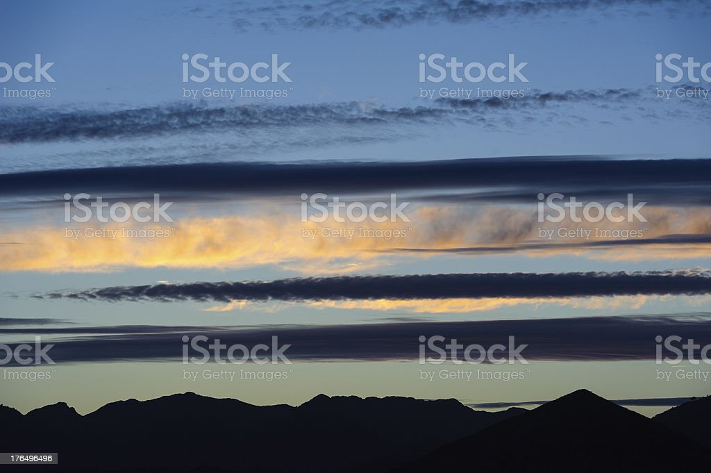 looking to the sky, cirrus clouds royalty-free stock photo