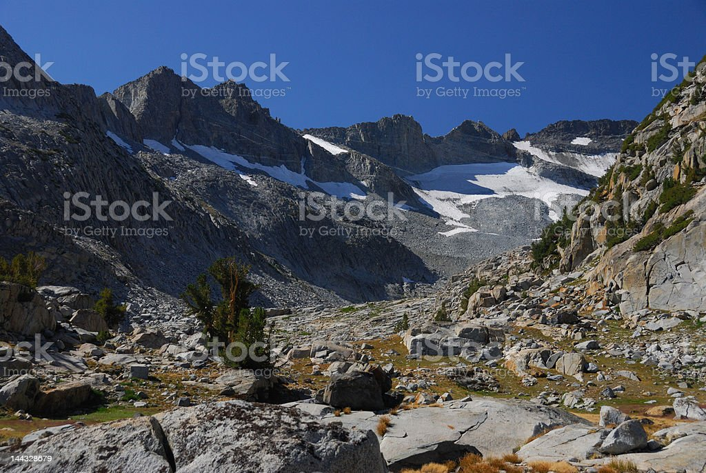 Looking Toward a High Point On The John Muir Trail stock photo