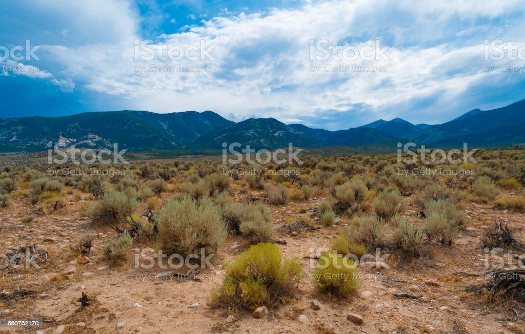 Looking towards Great Basin National Park, Nevada stock photo