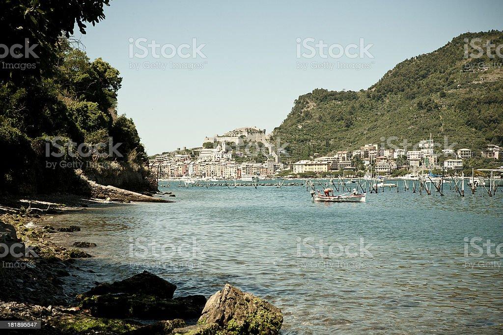 Looking towards Portovenere royalty-free stock photo