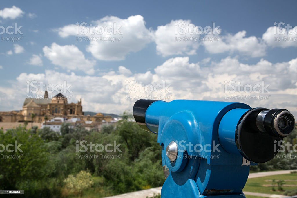 Looking Towards The Cathedral Mosque of Cordoba stock photo