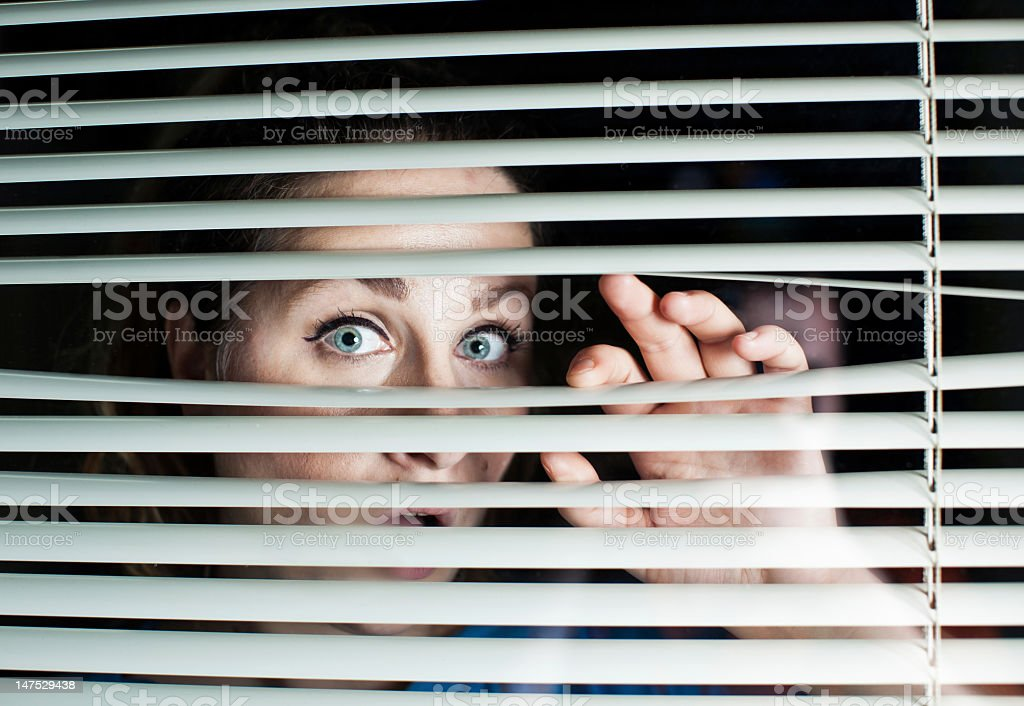 Looking trough blinds royalty-free stock photo