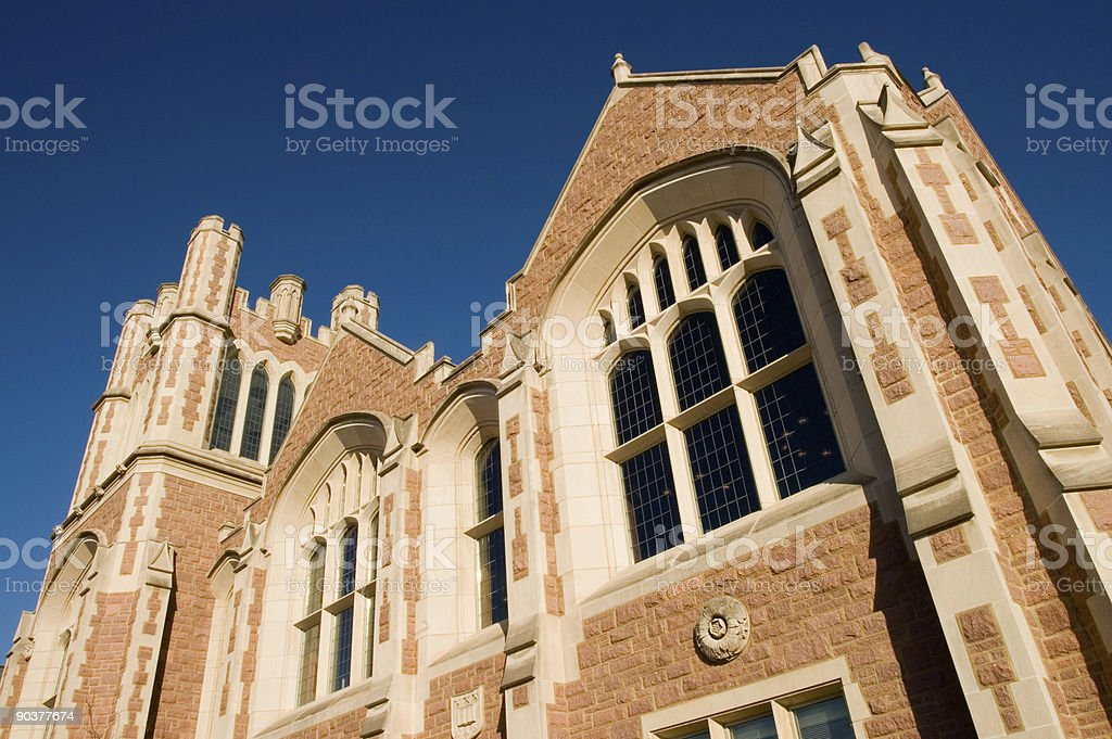 Looking Up at a Stone Building royalty-free stock photo