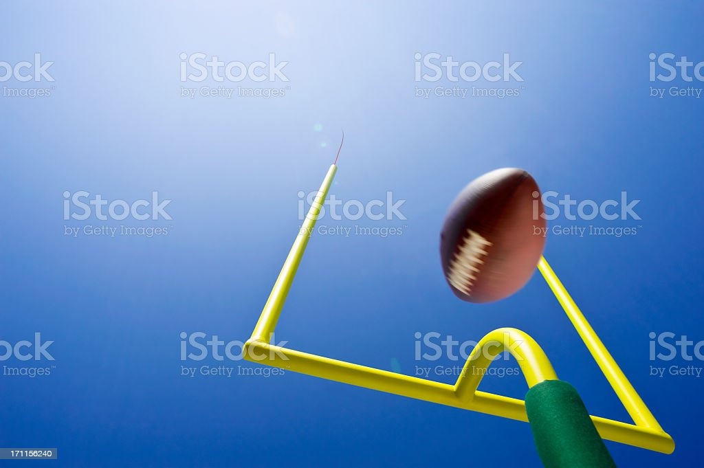 Looking up at Field Goal - American Football royalty-free stock photo