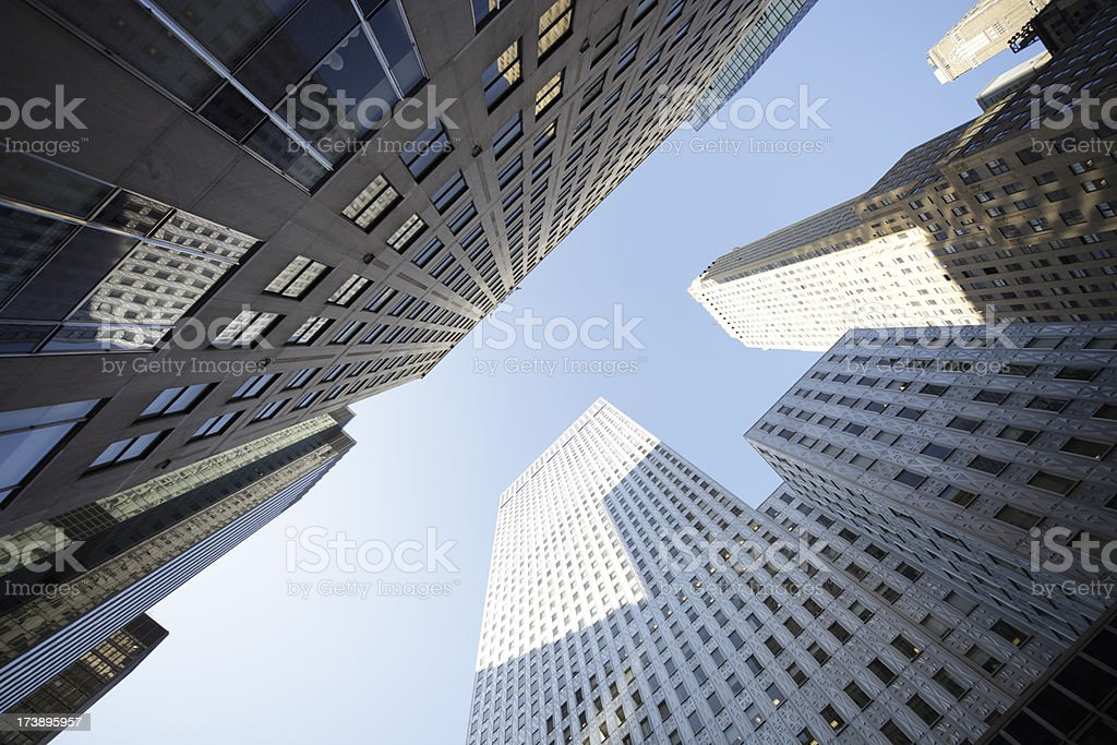 looking up at new york city royalty-free stock photo