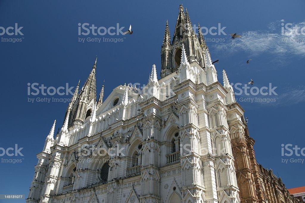 Looking up at Santa Anna church royalty-free stock photo