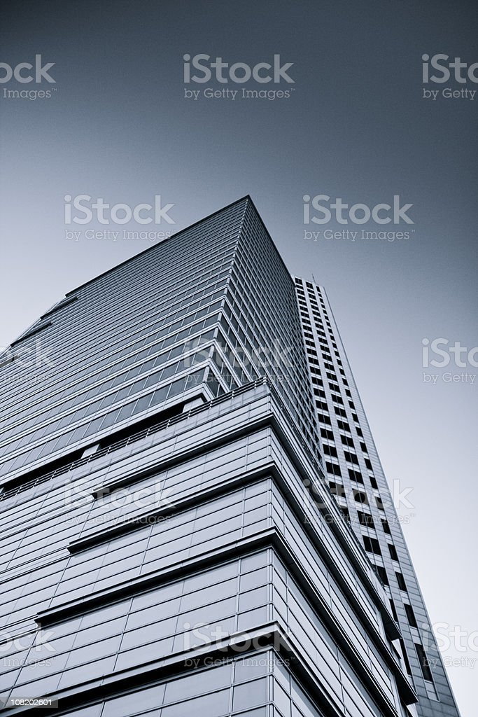 Looking Up at Skyscraper stock photo