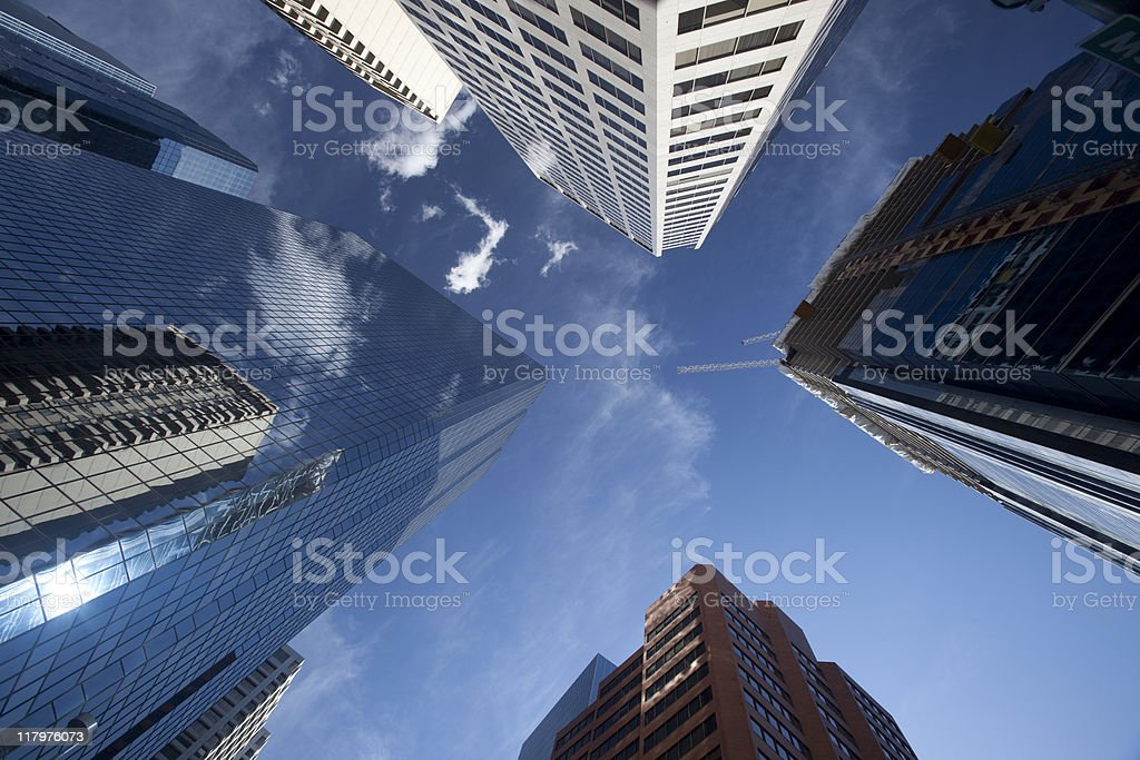 Looking Up at Skyscrapers royalty-free stock photo