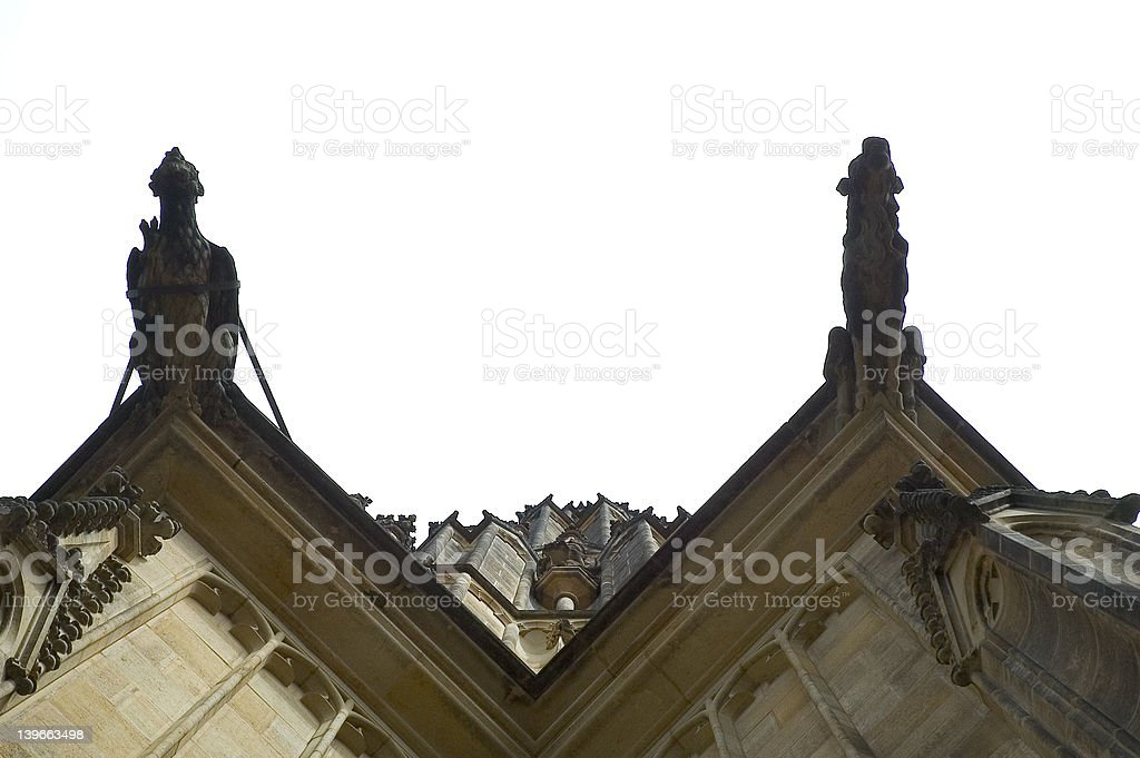 looking up at the prague castle royalty-free stock photo