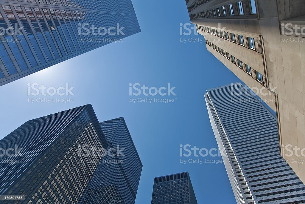 Looking Up at the Skyscrapers royalty-free stock photo