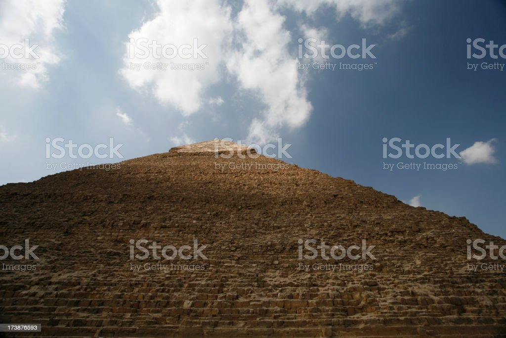 Looking up in Giza pyramids royalty-free stock photo