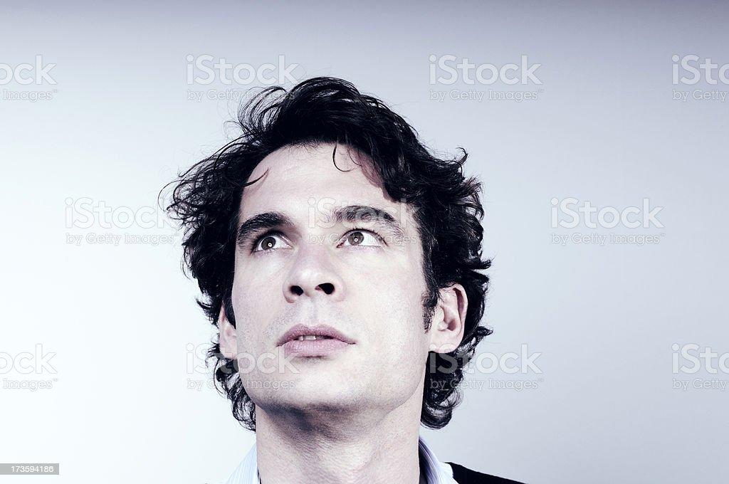 looking up man royalty-free stock photo