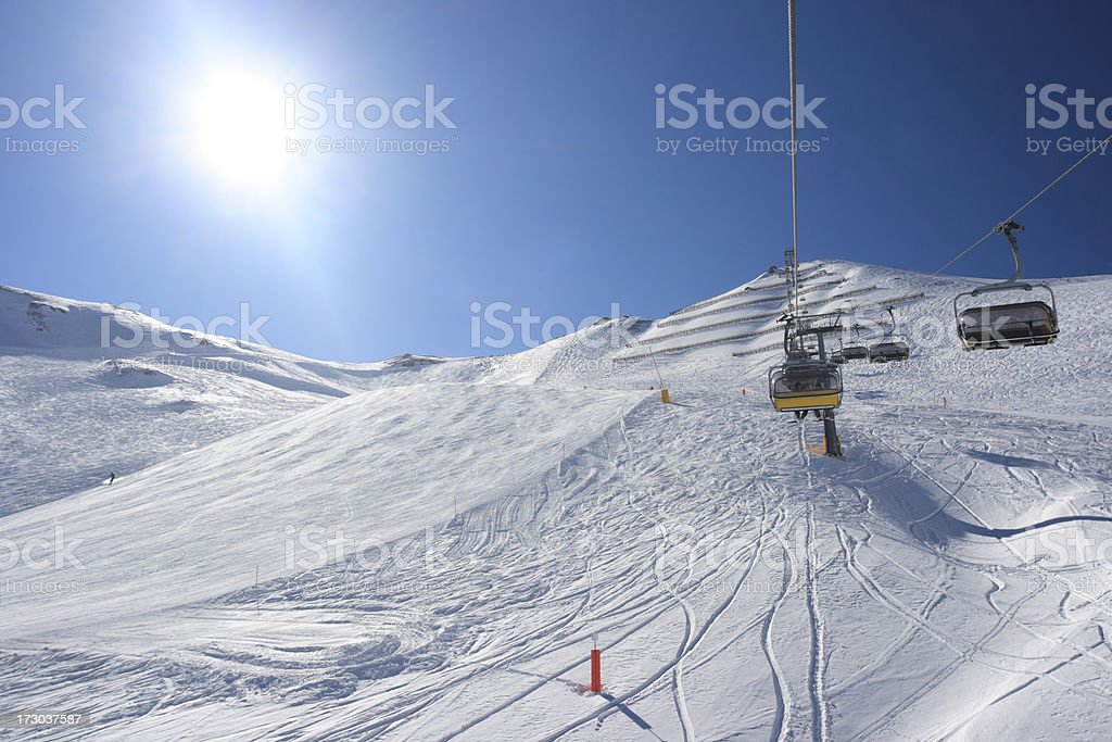 Looking up the slopes royalty-free stock photo