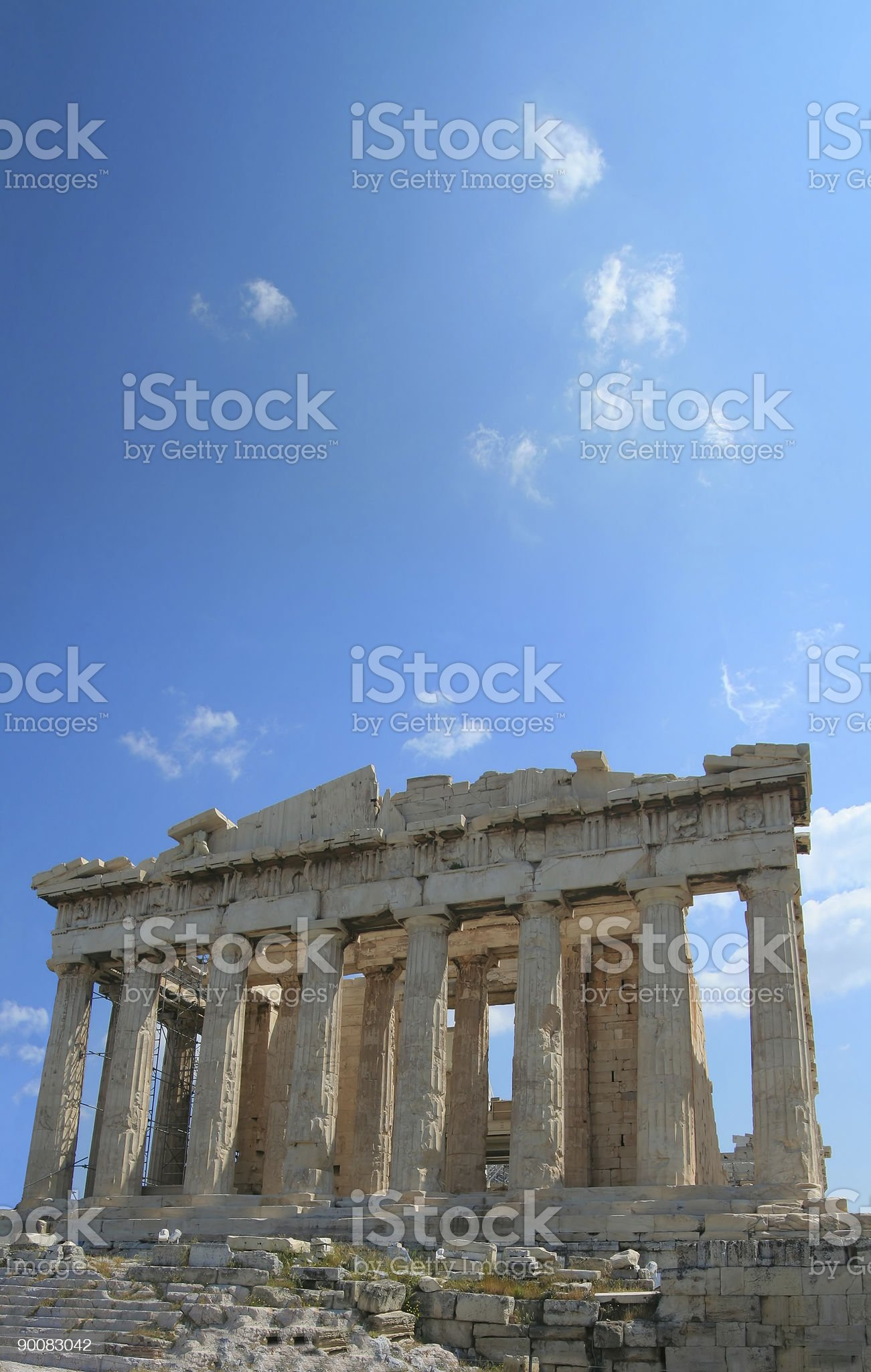 Looking Up to the Acropolis royalty-free stock photo