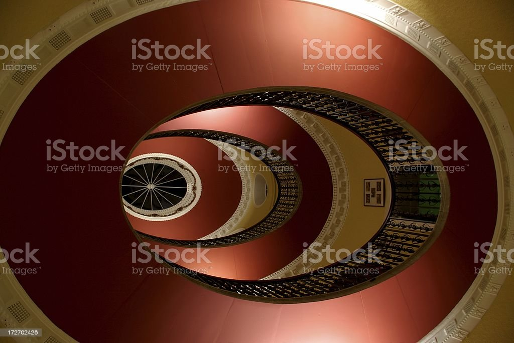 Looking up two floors to skylight royalty-free stock photo