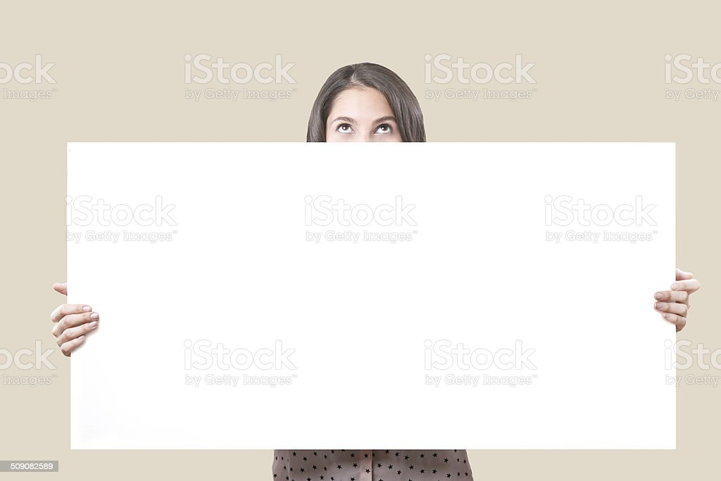 Looking Up With Board stock photo
