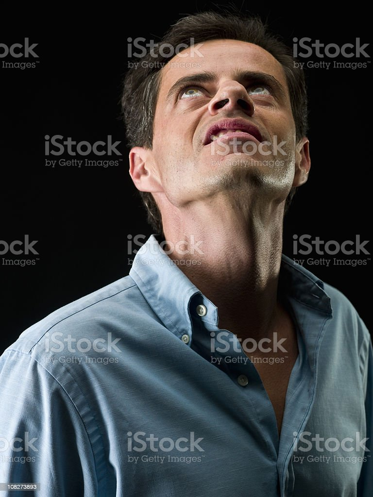 Looking up with hate royalty-free stock photo