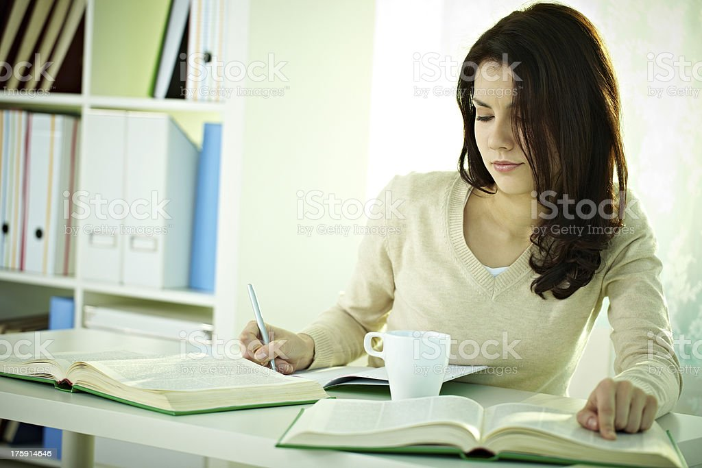 Looking up words royalty-free stock photo