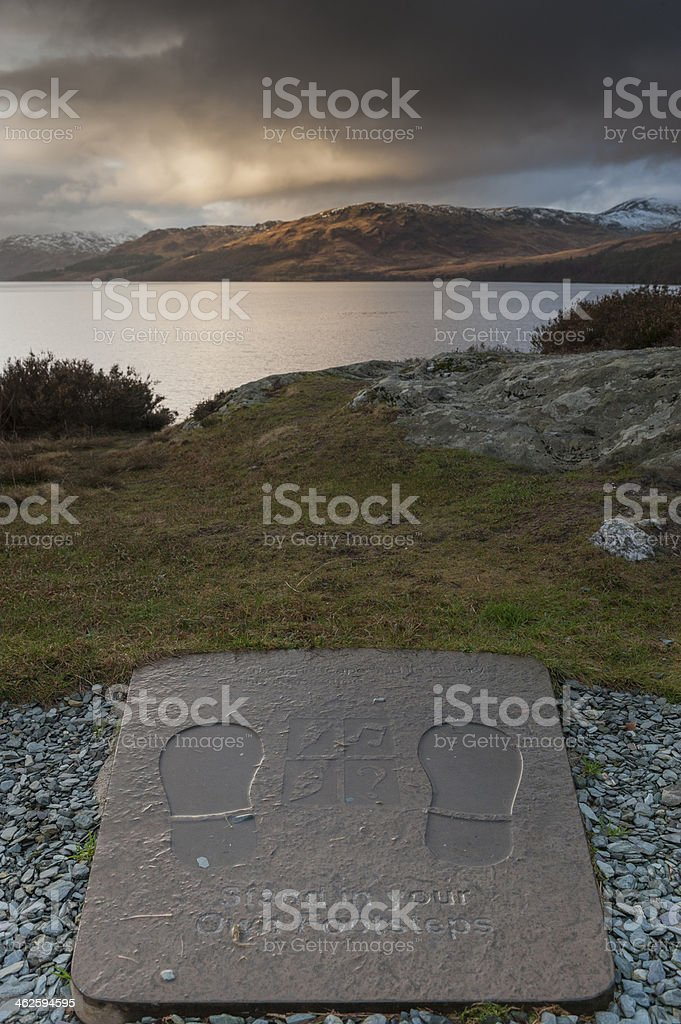 Looking west across Loch Katrine stock photo