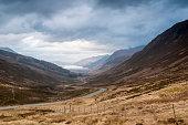 Looking west down Glen Docherty towards Loch Maree
