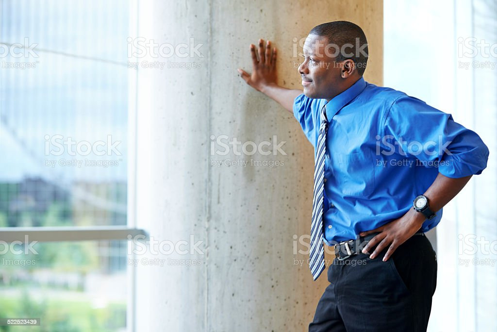 Lookng forward to his future in business stock photo