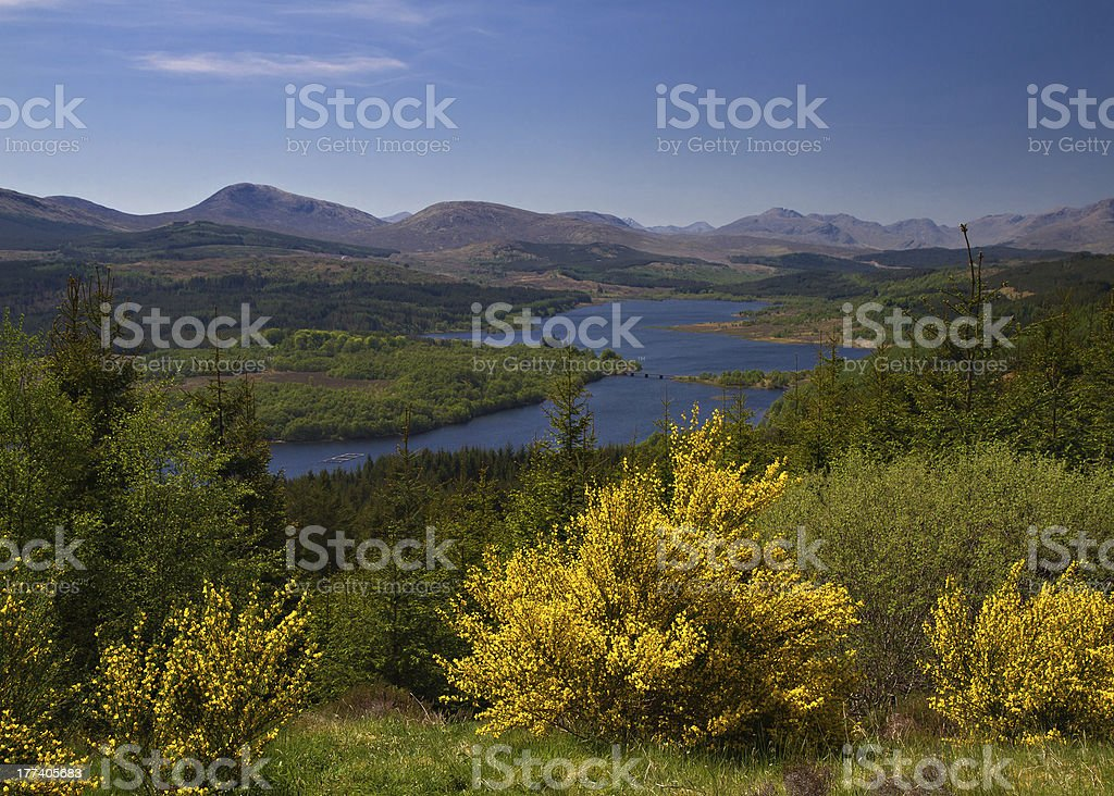 Lookout at Loch Garry stock photo
