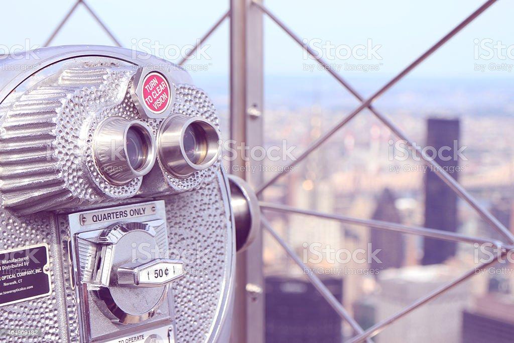 Lookout Binoculars stock photo