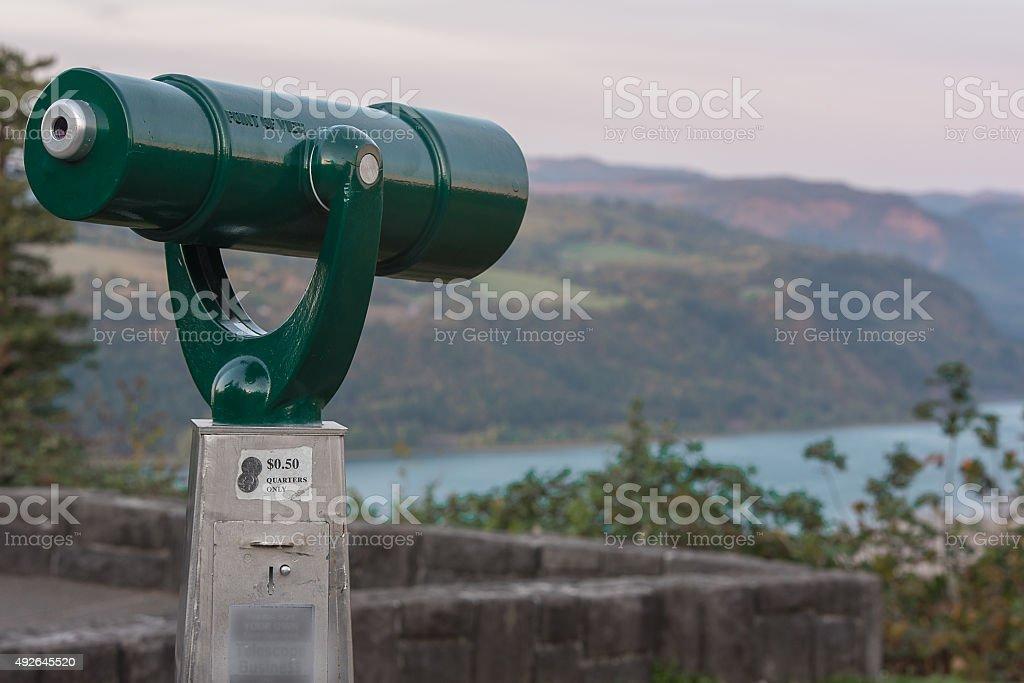 Lookout Telescope stock photo