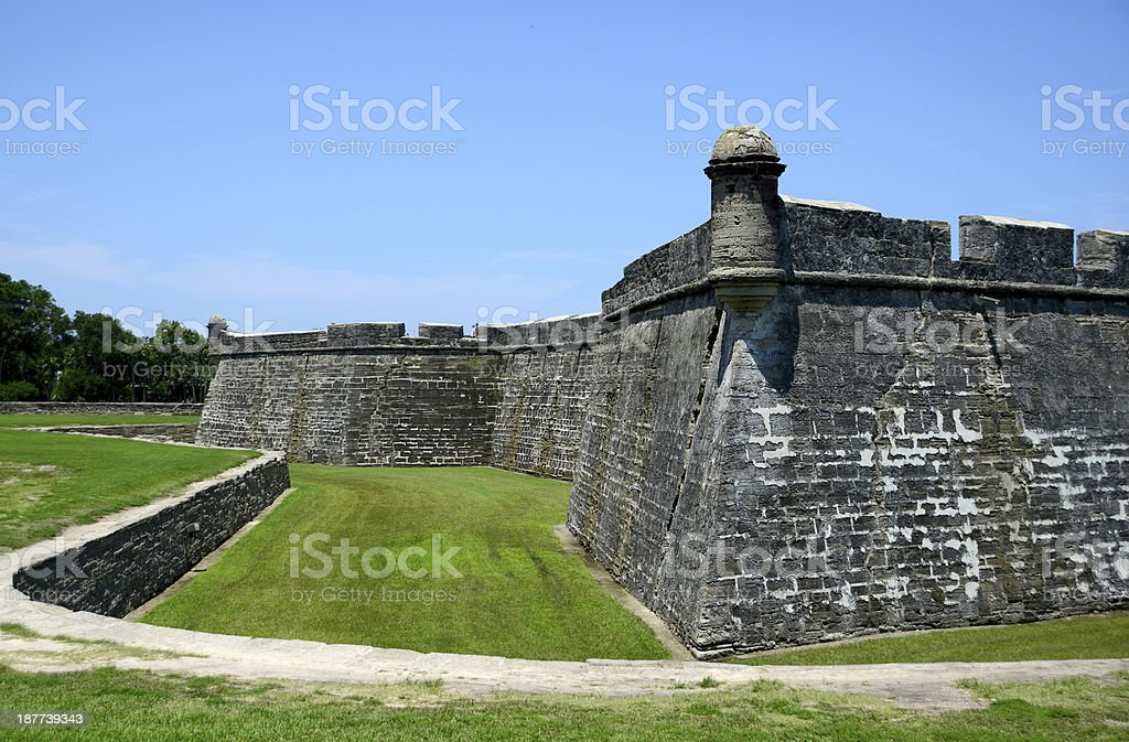 lookout tower at fort royalty-free stock photo