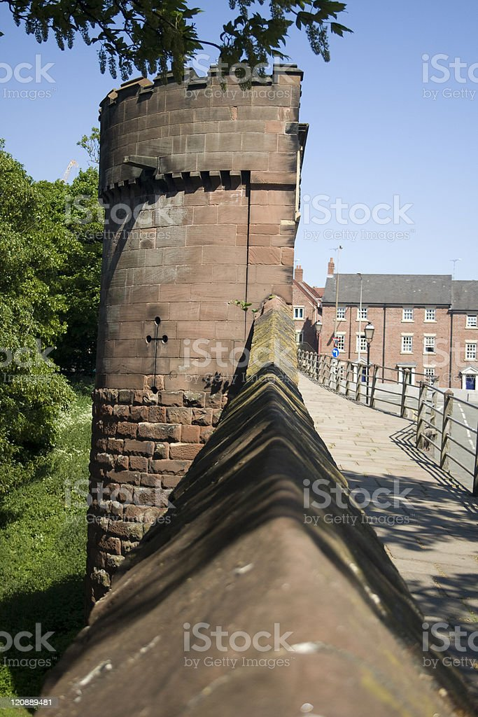 Lookout Tower on Chester City Walls royalty-free stock photo