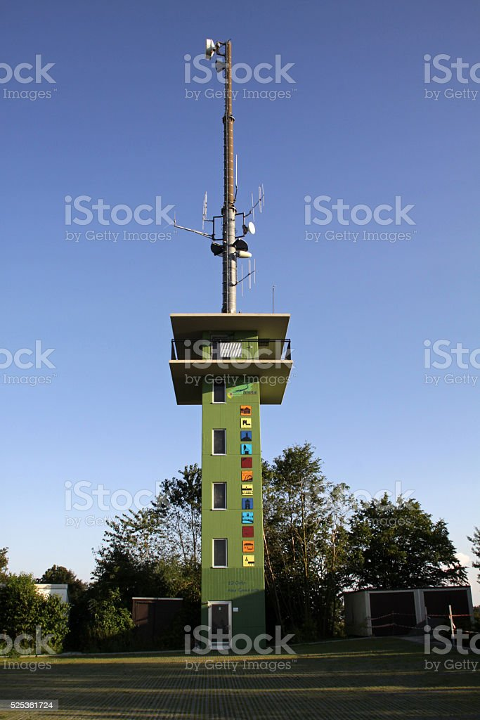 Lookout Tower on the High Asch in Extertal stock photo