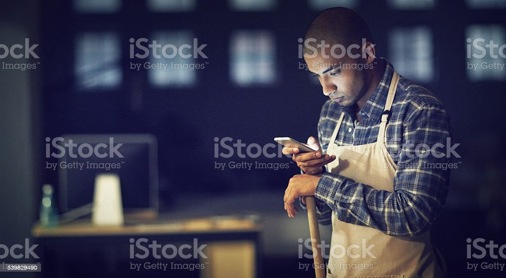 Looks like my night shift is nearly over stock photo