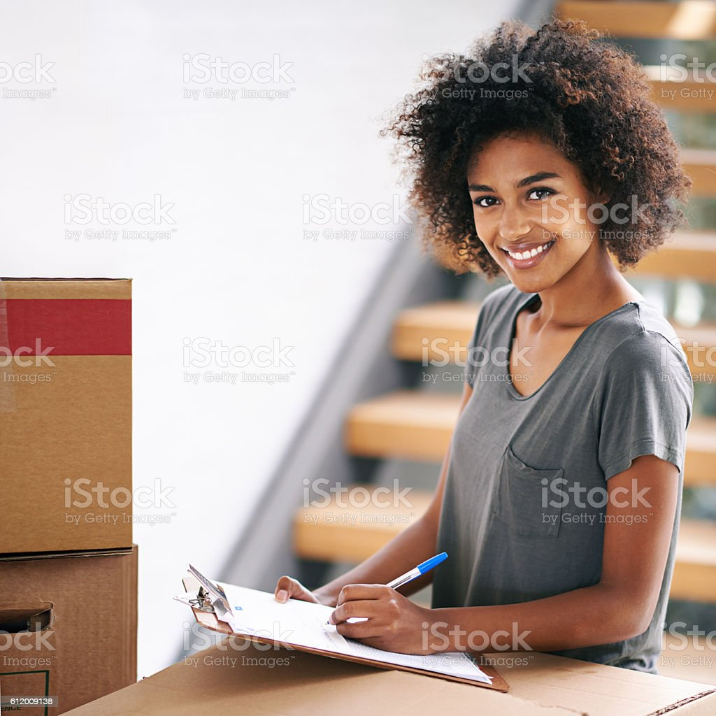 Looks like my to do list is fully checked stock photo