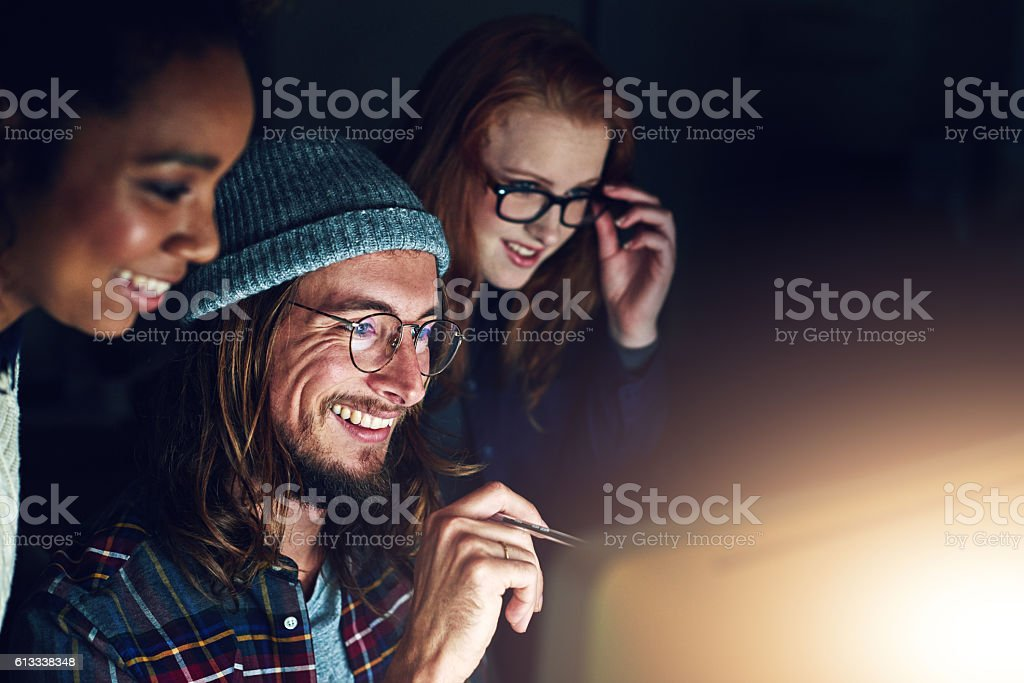 Looks like night shift is finally coming to an end stock photo