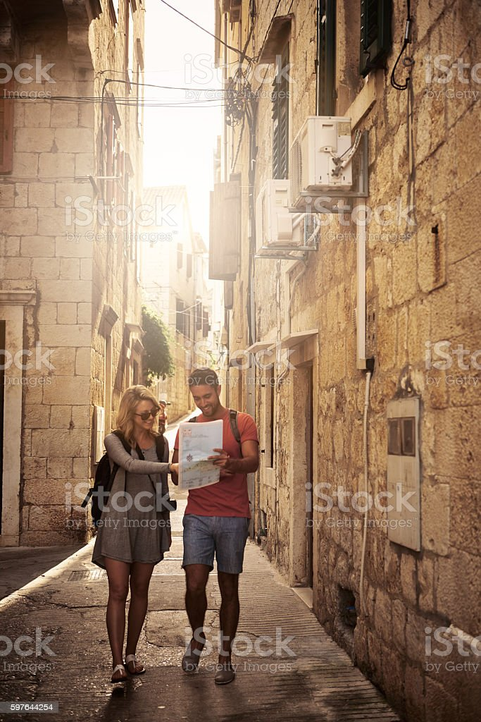 Looks like we're on the right track stock photo