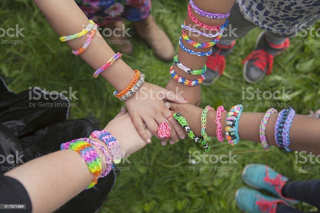 loom bracelets united stock photo